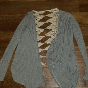 Daytrip- Cardigan with lace on back